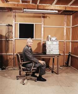 Dr. Carl Collins in his laboratory at the University of Texas