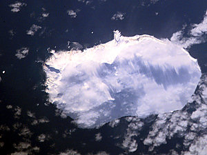 Aerial photo of Bouvet Island