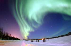 Aurora over Bear Lake, Alaska
