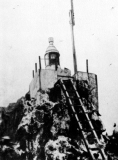 The Clipperton Island lighthouse