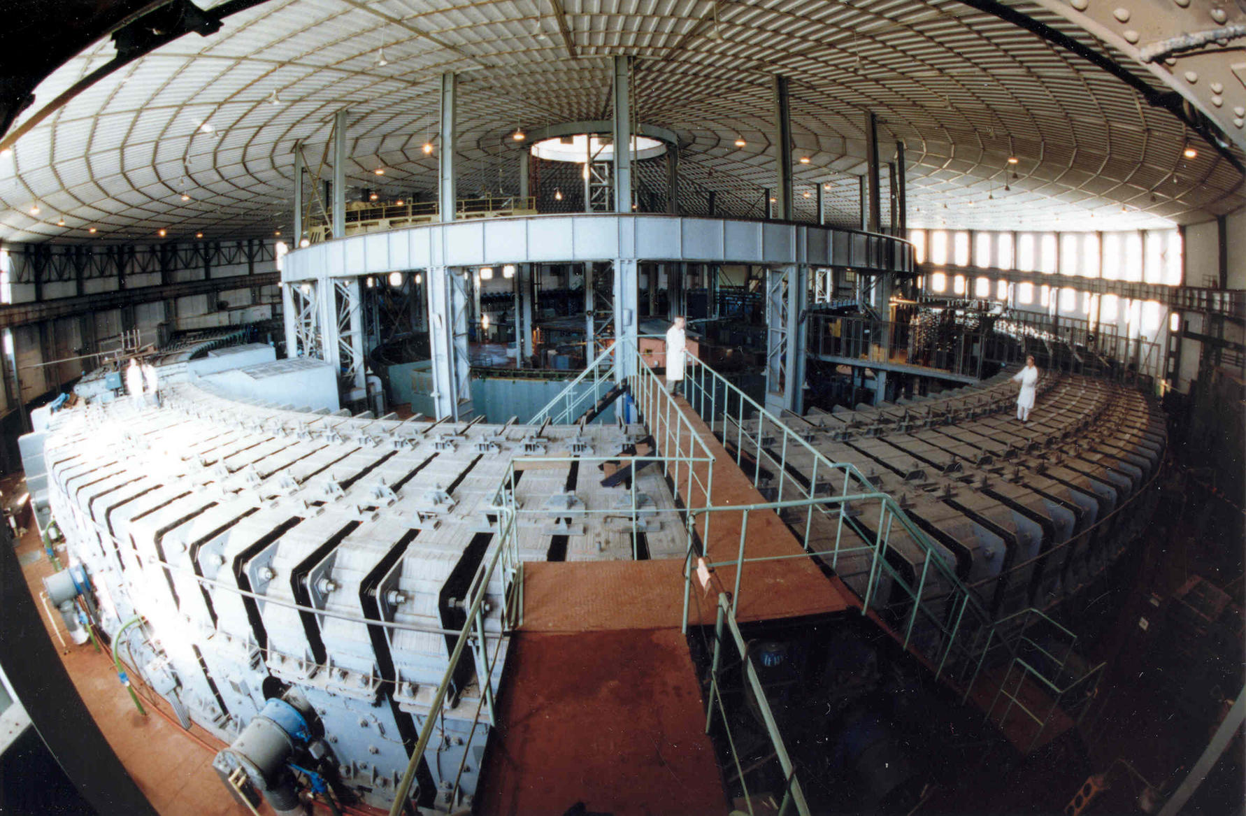 The synchrophasotron: a particle accelerator used to create superheavy nuclei at the Joint Institute for Nuclear Research in Russia.