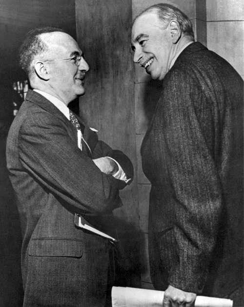 White, left, and Keynes, right