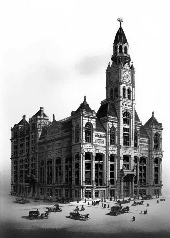 New Chicago Board of Trade building, 1885