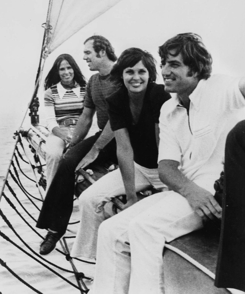 The Petersons and the Kekichs prior to the trade. Left to right: Marilyn Peterson, Fritz Peterson, Susanne Kekich, Mike Kekich